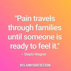 Not every pain we feel is ours, but everybody benefits from us transforming our relationship to every pain we feel.